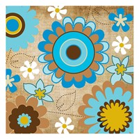 "Flower Fields-05 by Melody Hogan - 13"" x 13"""