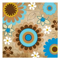 "Flower Fields 06 by Melody Hogan - 13"" x 13"""