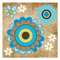 "Flower Fields 13 by Melody Hogan - 13"" x 13"""