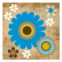 "Flower Fields 14 by Melody Hogan - 13"" x 13"""