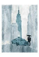"""NY in the Rain by OnRei - 13"""" x 19"""""""