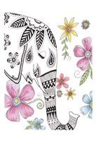 Tribal Elephant Portrait Fine Art Print