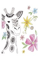 Tribal Giraffe Portrait Fine Art Print