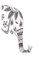 Lone Elephant Framed Print