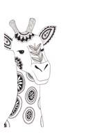 Lone Giraffe Framed Print