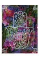 Radiant Hamsa 1 Framed Print
