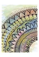 "Water-Quarter Mandala by Pam Varacek - 13"" x 19"", FulcrumGallery.com brand"