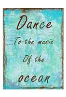 "Ocean Music by Sheldon Lewis - 13"" x 19"""