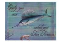 Blue Marline Framed Print