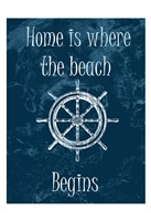 """Home Is At The Beach by Sheldon Lewis - 13"""" x 19"""", FulcrumGallery.com brand"""