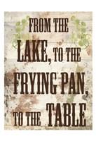 Lake Dinner Fine Art Print