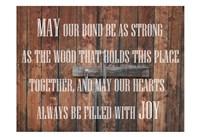 Lodge Prayer Framed Print
