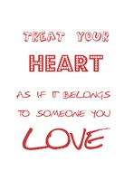 """Your Heart by Sheldon Lewis - 13"""" x 19"""""""