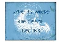 """Home At The Beach by Sheldon Lewis - 19"""" x 13"""", FulcrumGallery.com brand"""
