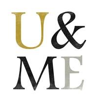 "Color Typo U&ME by Sheldon Lewis - 13"" x 13"", FulcrumGallery.com brand"