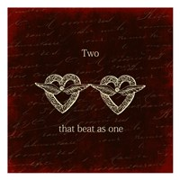 """Two Hearts by Sheldon Lewis - 13"""" x 13"""""""