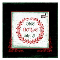 """One Horse Sleigh by Sheldon Lewis - 13"""" x 13"""" - $12.99"""