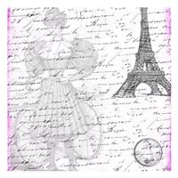 """Parisian Woman by Sheldon Lewis - 13"""" x 13"""""""
