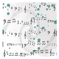 """Painted Music by Sheldon Lewis - 13"""" x 13"""""""