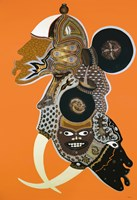 African Masks II Fine Art Print