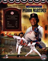 Pedro Martinez MLB Hall of Fame Legends Composite Fine Art Print