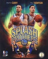 Stephen Curry & Klay Thompson Splash Brothers Portrait Plus Framed Print