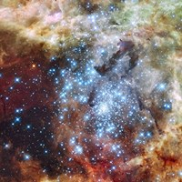 Merging Clusters in 30 Doradus (Non-annotated) Fine Art Print