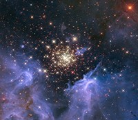 Starburst Cluster Shows Celestial Fireworks by NASA, ESA, STScl - various sizes, FulcrumGallery.com brand
