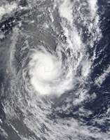 Tropical Cyclone Pat over the Southern Pacific Ocean - various sizes