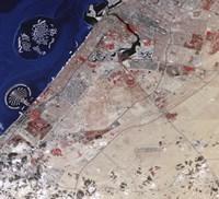 False-Color image of part of Dubai - various sizes, FulcrumGallery.com brand