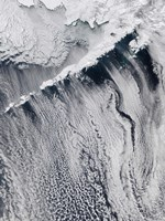 Cloud Patterns Visible over the Aleutian Islands - various sizes, FulcrumGallery.com brand