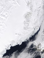 Various types of Sea Ice Congregate along the East Coast of Greenland - various sizes