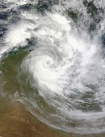 Tropical Cyclone Paul over Australia - various sizes