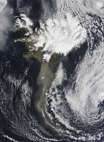 A Cloud of Ash from Iceland's Eyjafjallajokull Volcano Extends over the Ocean - various sizes