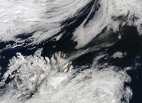 A Pale Gray Ash Plume Blows from the Summit of Eyjafjallajokull Volcano - various sizes - $47.49