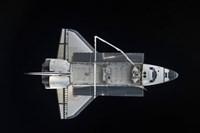 Space Shuttle Atlantis Backdropped Against the Blackness of Space Fine Art Print
