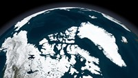 View over Greenland and the Arctic Ocean - various sizes