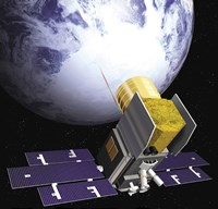 Artist's Concept of the Ice, Cloud, and Land Elevation Satellite, also referred to as ICEsat - various sizes, FulcrumGallery.com brand