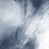 A giant Whirlpool Cloud Swirls Above the Sea Between Spain and Morocco - various sizes, FulcrumGallery.com brand