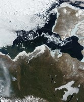 Satellite View of Northwest Canada - various sizes