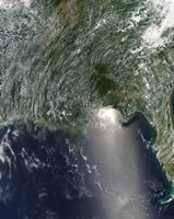 Satellite view of an Oil Spill is Visible Across the Northern Gulf of Mexico - various sizes