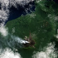 A Small Plume Rises from the Summit of Ulawun Volcano on Papua New Guinea's Island of New Britain Fine Art Print