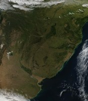 Satellite view of South America - various sizes
