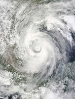 Hurricane Alex over the Western Gulf of Mexico - various sizes