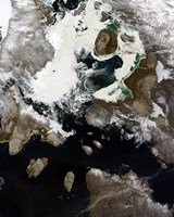 Sea Ice and Sediment Visible in Nunavut, Canada - various sizes