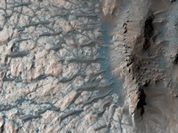 Part of the Floor of a Large Impact Crater in the Southern Highlands on Mars - various sizes