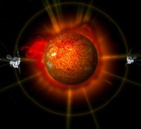 An artist's Concept of the STEREO spacecraft Surrounding the Sun - various sizes - $30.49
