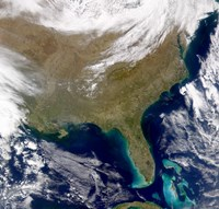 Satellite view of the Southeastern United States - various sizes
