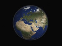 Full Earth view showing Africa, Europe, the Middle East, and India - various sizes - $47.49