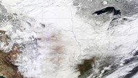 Satellite view of a Massive Winter Storm over the United States - various sizes